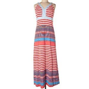 J. McLaughlin Pink Striped Catalina Maxi Dress